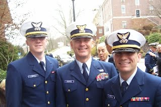Ryan Kilgo (on right) with CWO Tom Gelwicks at Officer Candidate School (OCS) graduation