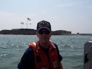 Ryan Kilgo, then a cadet at The Citadel, underway off of Ft Sumter in Charleston, SC